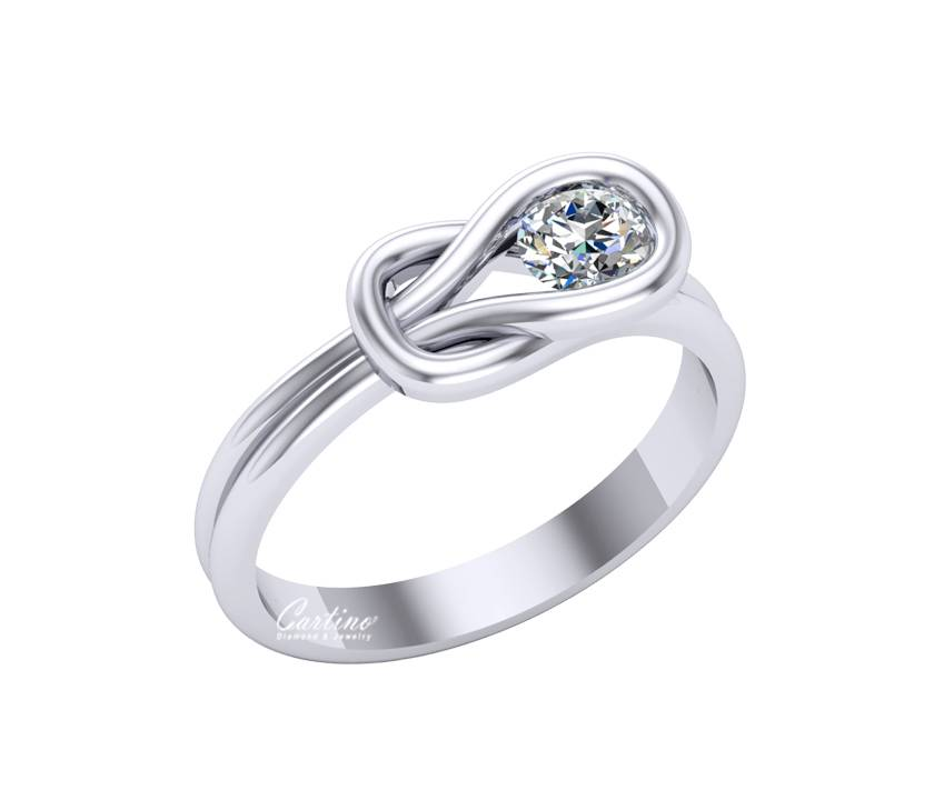 Nhẫn Nữ SOLITAIRE 7 CZ015 - 10K