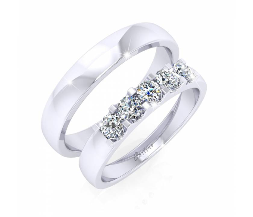 Nhẫn Cặp JUST MARRIED 2 - 10K _ T096