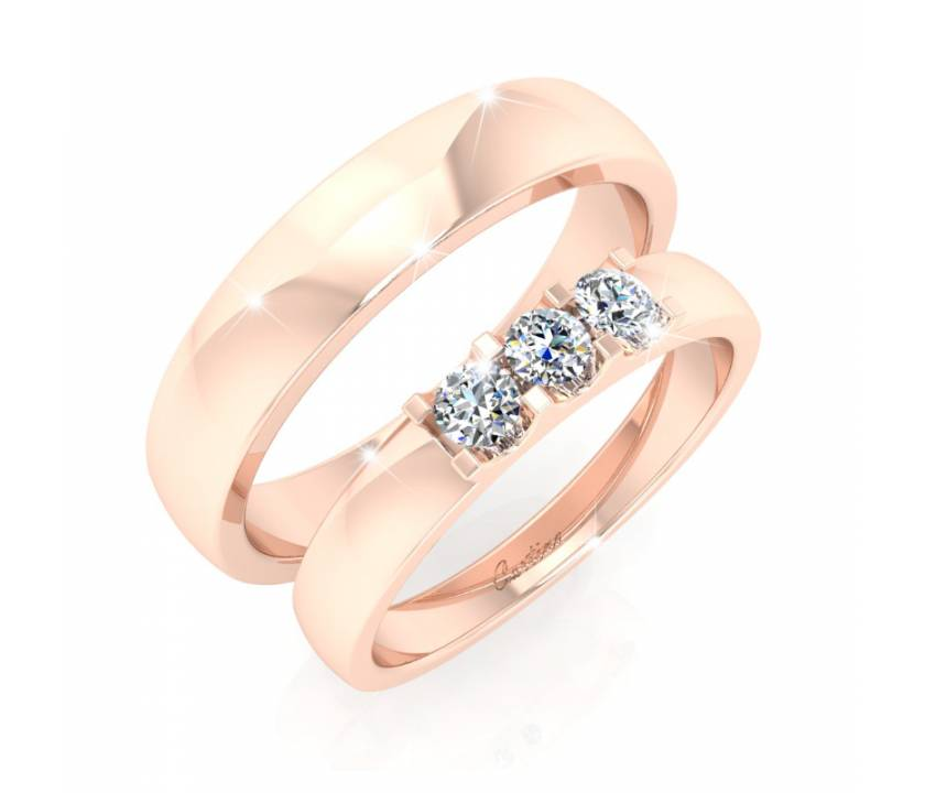 Nhẫn Cặp JUST MARRIED 1 - 18K _ H074