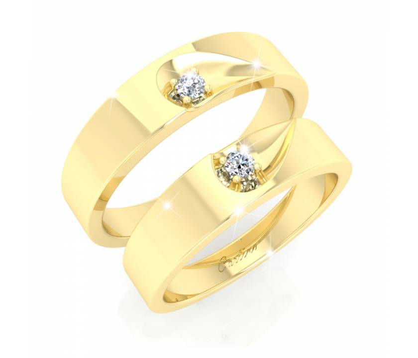 Nhẫn Cặp COUPLE HEART - 14K/18K _ V082