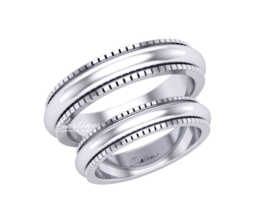 Nhẫn Cặp Platinum MARRIAGE RING _  PT022
