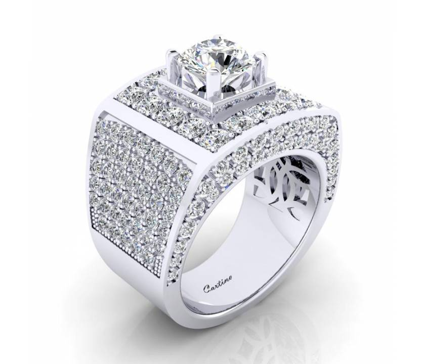 Nhẫn Nam CZ MEN RING 40 _ MR040