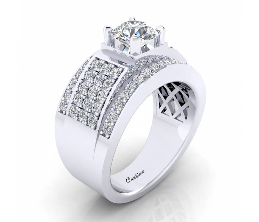 Nhẫn Nam CZ MEN RING 48_MR048